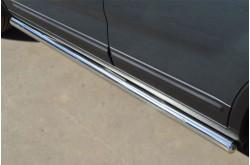 Пороги труба D63 (вариант 3) для KIA Sorento II 2012-2014