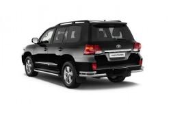 Защита заднего бампера уголки Toyota Land Cruiser 200