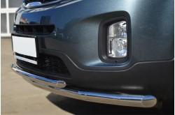 Защита переднего бампера двойная D63/D42 для KIA Sorento II 2012-2014
