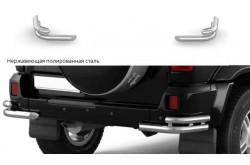 Защита заднего бампера двойная угловая Ø51/63 мм УАЗ Патриот