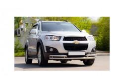 Защита переднего бампера двойная Ø51/63 мм Chevrolet Captiva