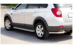 Пороги с листом Ø51мм Chevrolet Captiva