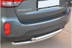 Защита заднего бампера двойная D63/D63 для KIA Sorento II 2012-2014