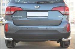 Защита заднего бампера уголки D63 для KIA Sorento II 2012-2014