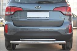 Защита заднего бампера двойная дуга D76/D42 для KIA Sorento II 2012-2014