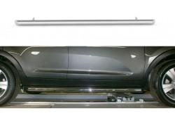 Пороги из нержавейки Ø63 мм Kia Sportage III