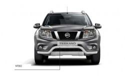Защита переднего бампера Ø63 мм Nissan Terrano 2014