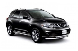 Защита переднего бампера двойная Ø63 мм Nissan Murano