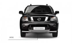Защита переднего бампера двойная Ø63 мм Nissan Pathfinder