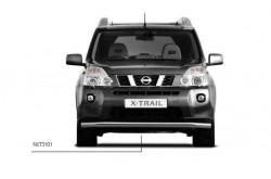 Защита переднего бампера одинарная Ø63 Nissan X-Trail