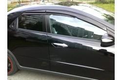 Дефлекторы боковых окон Mugen Honda Civic хэтчбек 3дв  2008-2012