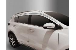 Дефлекторы боковых окон хромированные Kia Sportage 4