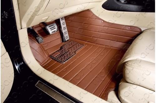 Коврики из экокожи Volvo XC90 коричневые