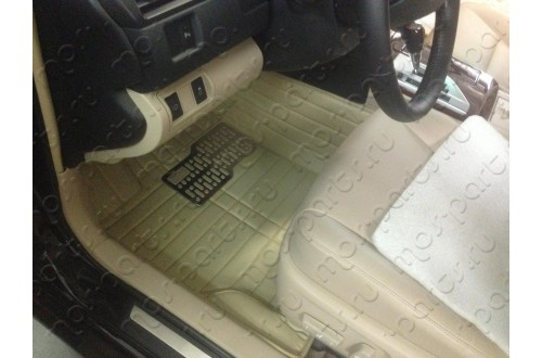 Коврики из экокожи Honda CRV IV бежевые