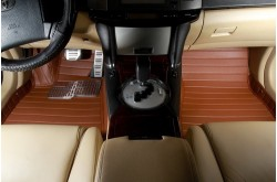 Коврики из экокожи Toyota RAV 4 коричневые
