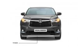 Защитная дуга переднего бампера Toyota HighLander 3 одинарная Ø63 мм