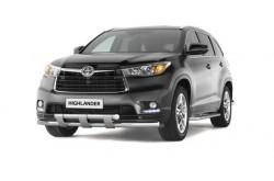 Защита переднего бампера Toyota Highlander 2014-н.в.